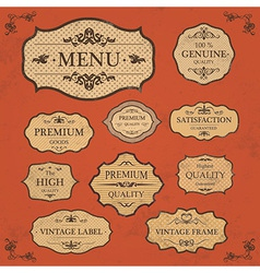 Vintage Label Style Frame Collection vector image vector image