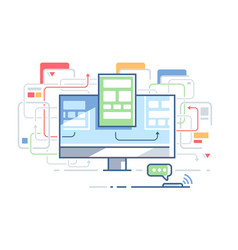web site structure vector image