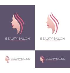 Beauty salon logo vector image vector image