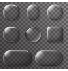 Glass App UI Buttons Icons Transparent design vector image
