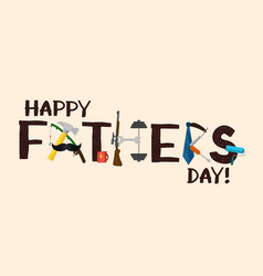 happy fathers day card hand drawn vector image