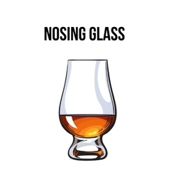 Scotch whiskey rum brandy nosing glass vector image vector image