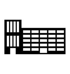 Silhouette city school building line sticker vector image