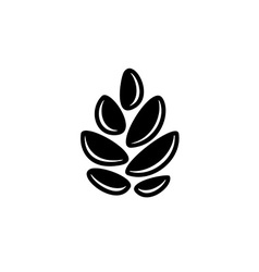 Simple cereal sign Pine cone or hop symbol Wheat vector image vector image