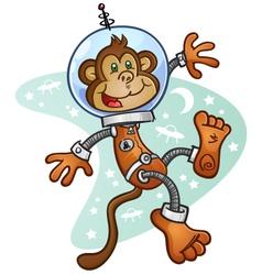 Space Monkey Cartoon Character vector image
