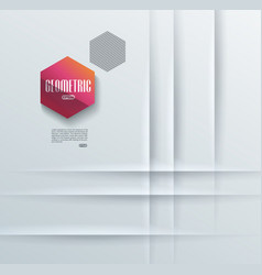 Abstract background with white paper layers or vector
