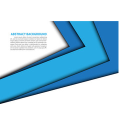 abstract blue arrow overlap white modern vector image