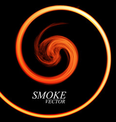 Abstract colorful smoke by spiral isolated vector