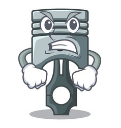 Angry piston isolated in the cartoon shape vector