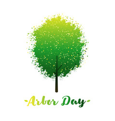 Arbor day logo with tree vector