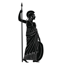 athena pallada with a spear vector image