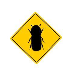 Bark beetle warning sign vector image