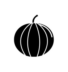Black contour health pumpkin veetable icon vector