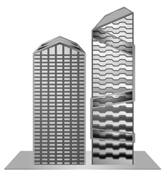 Building model sample new design gray scale vector image