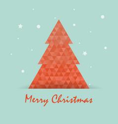 christmas postcard template with christmas tree vector image