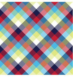 colored check pixel tablecloth seamless pattern vector image