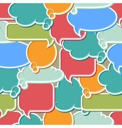 Colorful Speech Bubbles Background vector