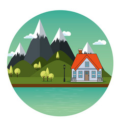 Country house icon vector