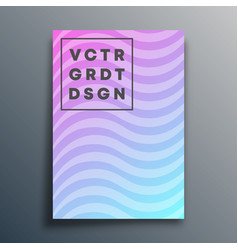 cover template with wavy lines for flyer poster vector image