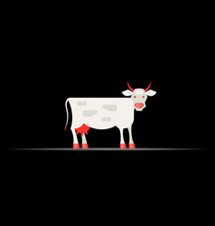 Cow livestock economic geography 3d icon map vector