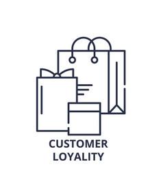 Customer loyality line icon concept customer vector