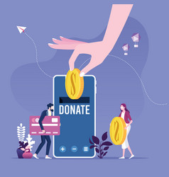donating money online payments vector image