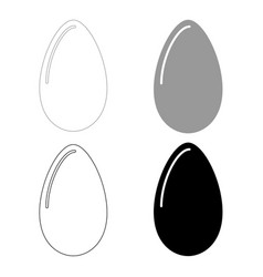 Egg the black and grey color set icon vector