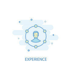 Experience line concept simple line icon colored vector