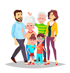 family full family portrait dad mother vector image