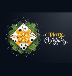 Festive merry christmas greeting card vector