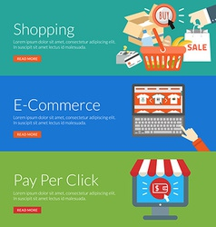 Flat design concept for shopping e-commerce and vector