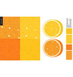 food patterns fruit lemon and orange vector image
