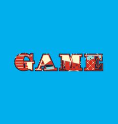 Game concept word art vector