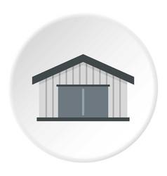 Garage icon circle vector