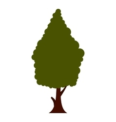 Green tree icon flat style vector image