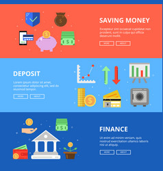 horizontal banners set save your money vector image