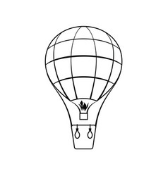 icon of hot air balloon vector image