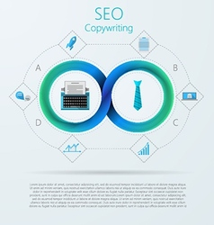 Infographic for SEO or copywriting with Mobius vector