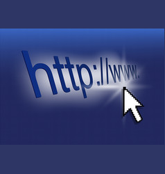 internet concept with blue screen vector image