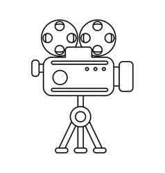 Isolated cinema videocamera design vector
