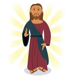 jesus christ prayer image vector image