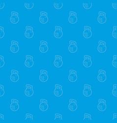 kettlebell pattern seamless blue vector image