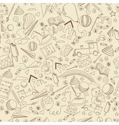 Kindergarten line art design vector