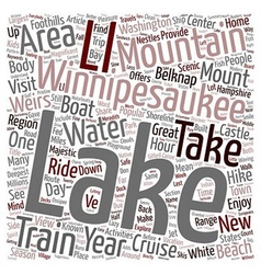 Lake winnipesaukee new hampshire s playground text vector