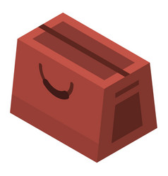 leather hand bag icon isometric style vector image