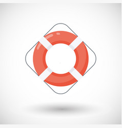 life buoy flat icon vector image