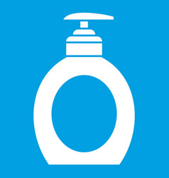 Liquid soap icon white vector