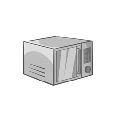 Microwave icon black monochrome style vector image