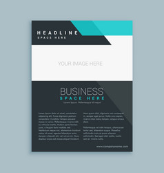 Modern business brochure flyer design vector