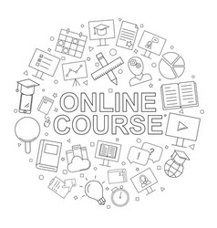 online course pattern vector image